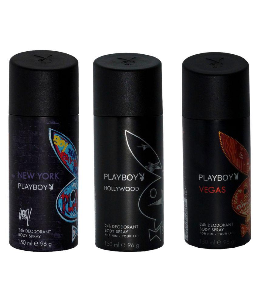 Playboy Black Deo Spray - Pack Of 3