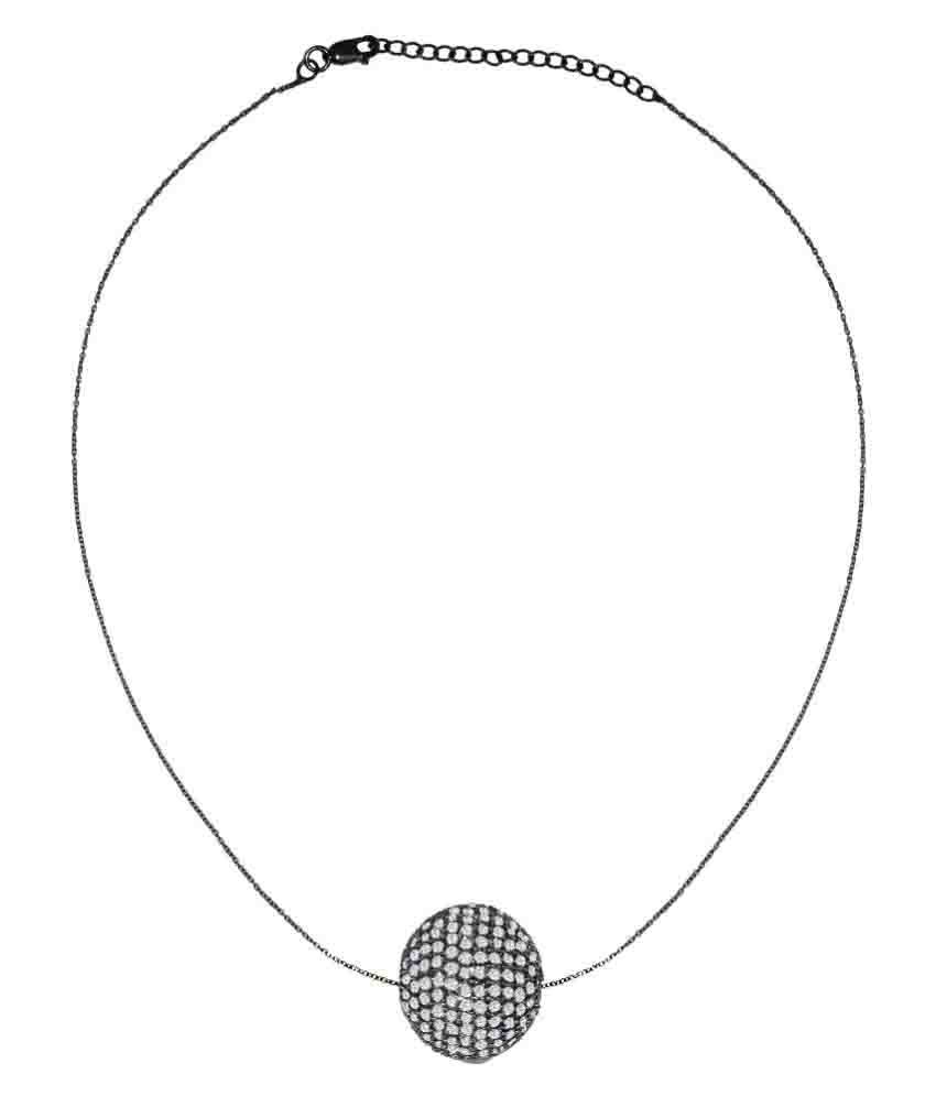 shine jewel 92.5 BIS Hallmarked Silver Necklace