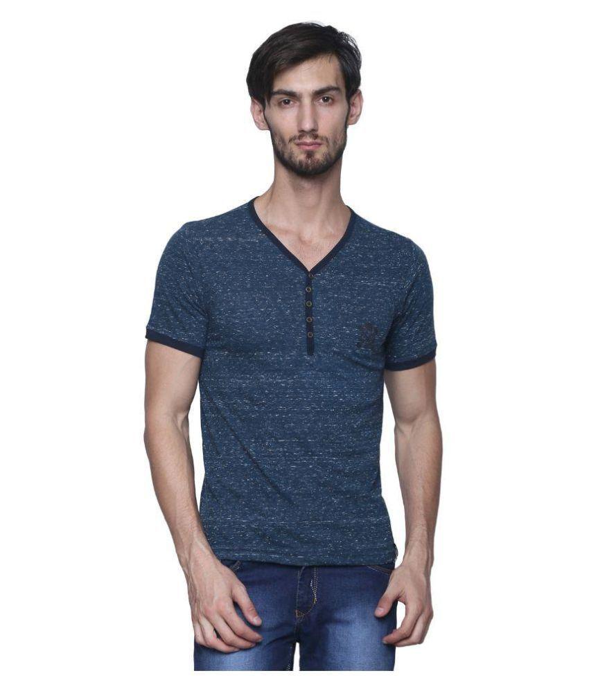 Era Of Attitude Blue Henley T-Shirt