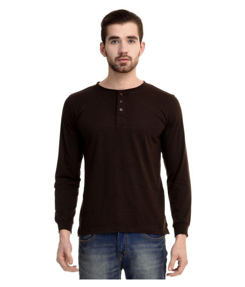 Mimoda Brown Henley T-Shirt