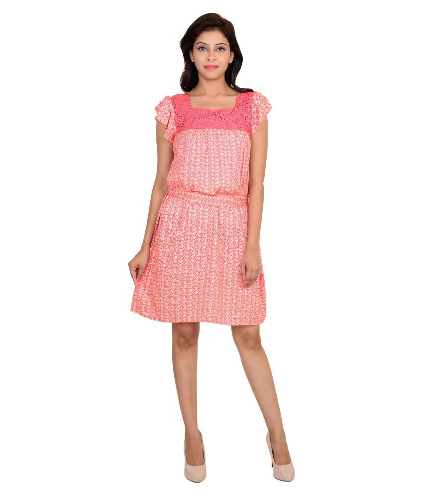 Vs Fashion Rayon Pink Dresses