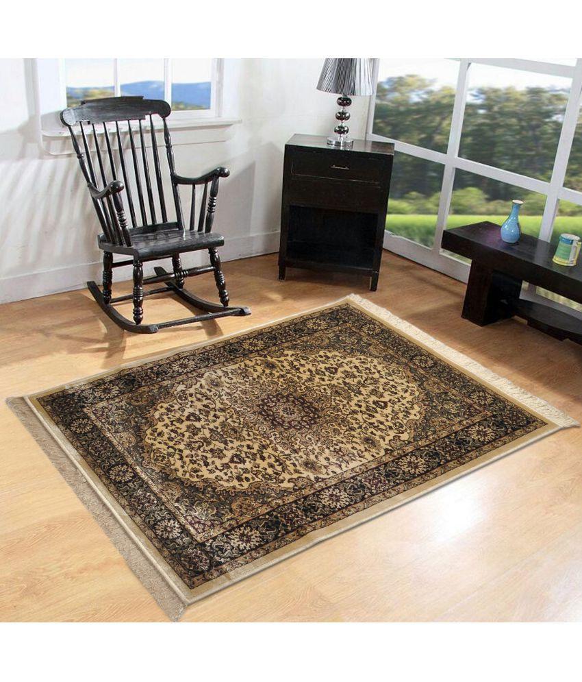 Furnishingland Multi Silk Carpet Ethnic 4x6 Ft.