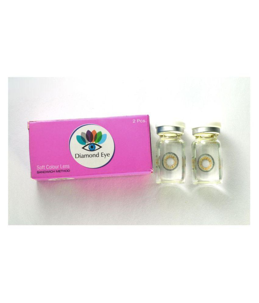 Diamond Eye Disposable Yearly Grey Color Contact Lenses