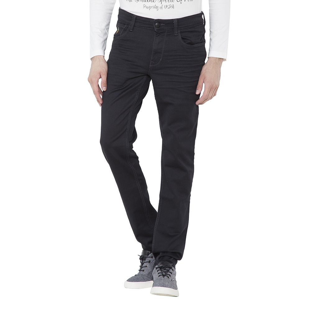 U.S. Polo Assn. Black Slim Faded