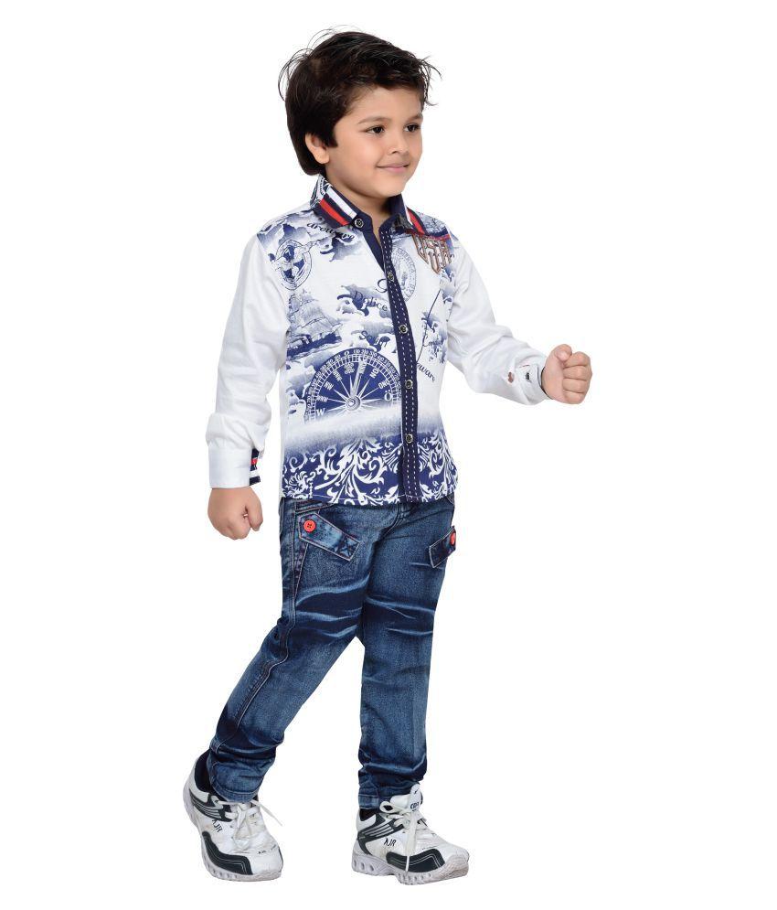 aj dezines kids shirt and pant set for boys