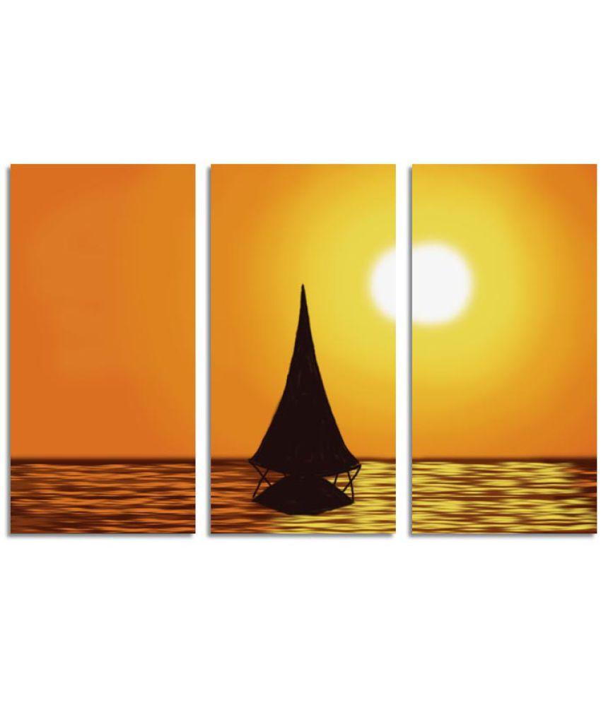 ELL DECOR Landscape Canvas Art Prints Without Frame 3 Combination