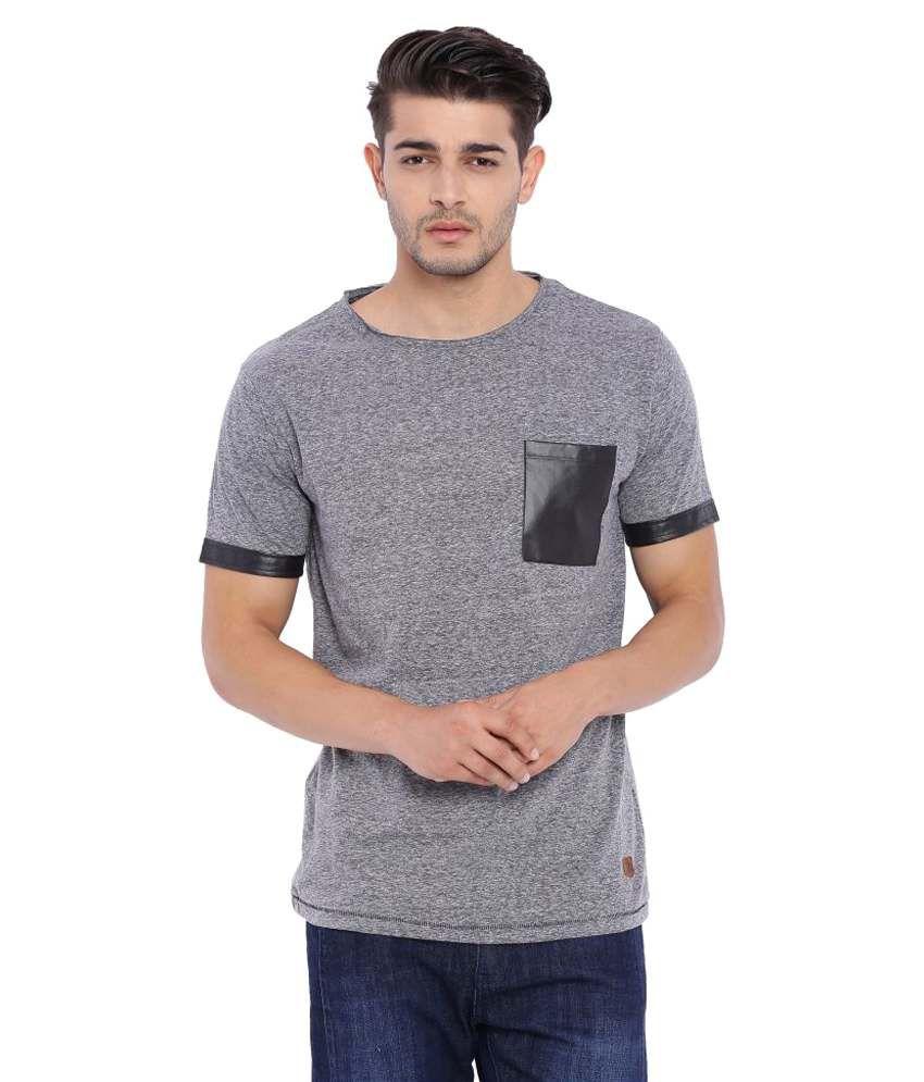 Blue Saint Grey Round T-Shirt
