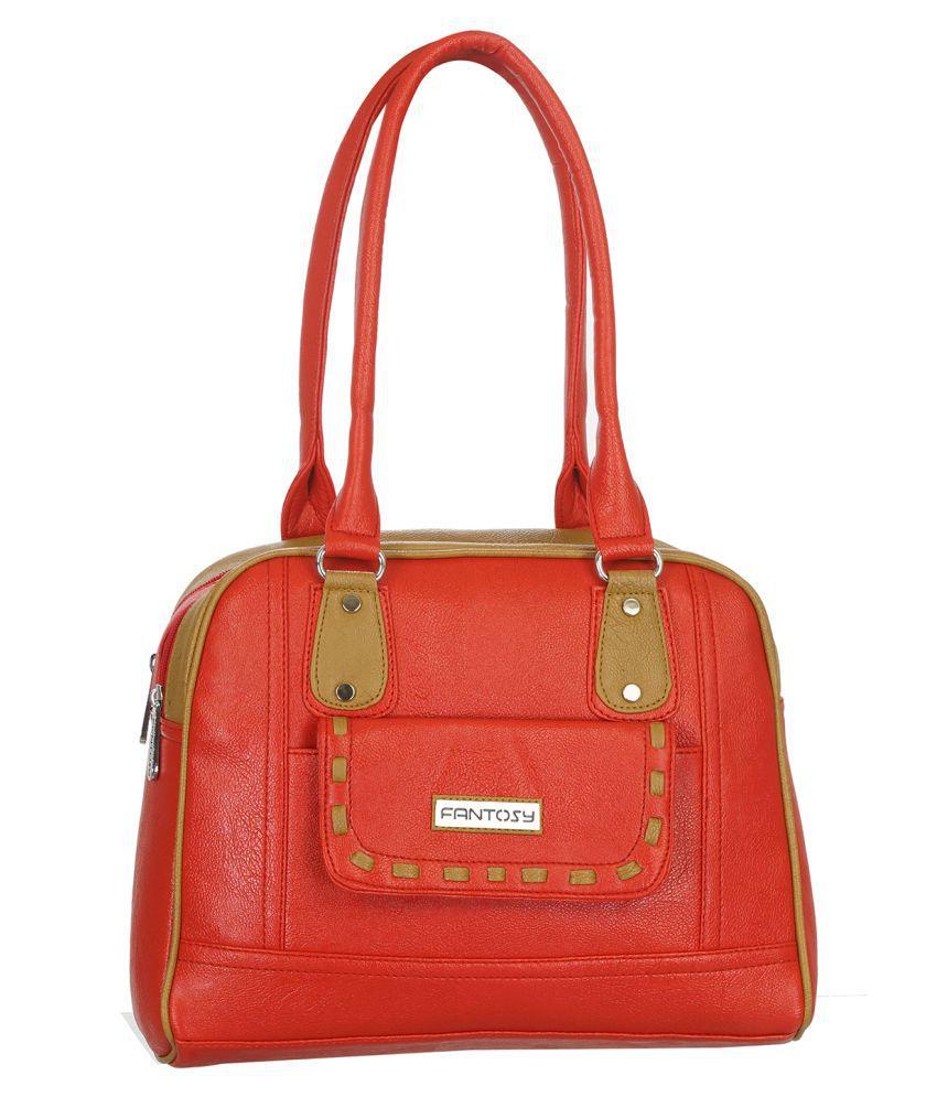 Fantosy Red P.U. Shoulder Bag