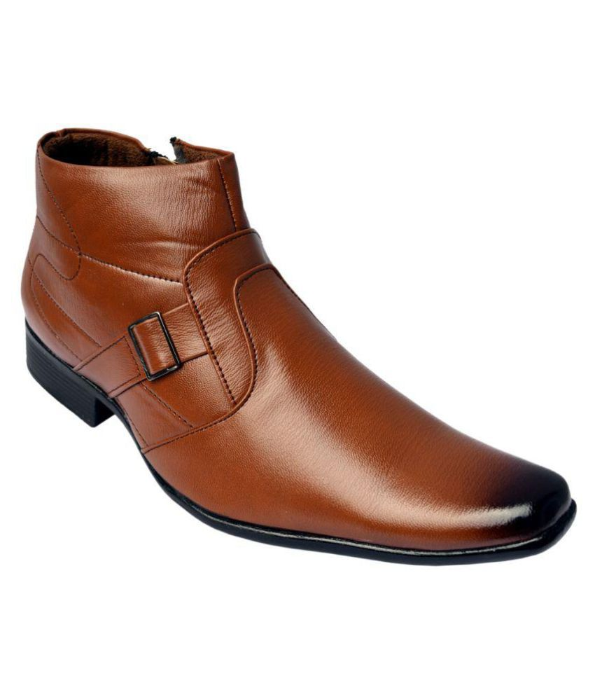 ISS Tan Formal Boot