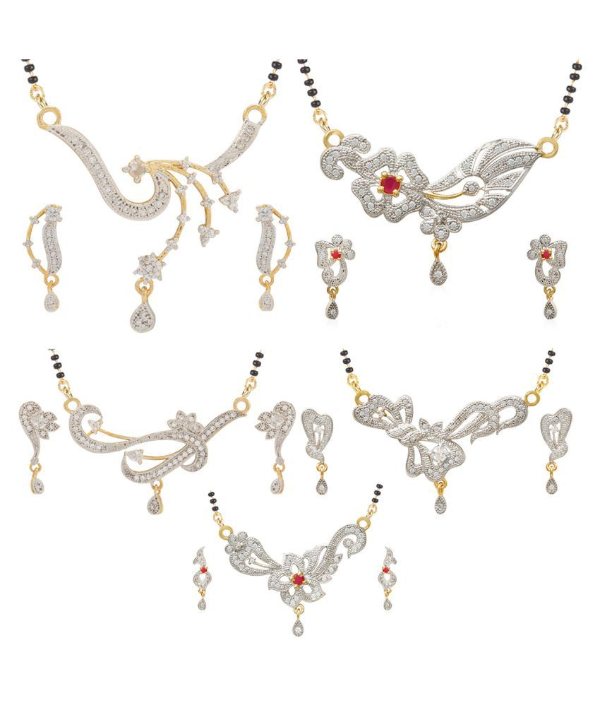 Jewels Galaxy Multicolour Mangalsutra Set - Pack of 5