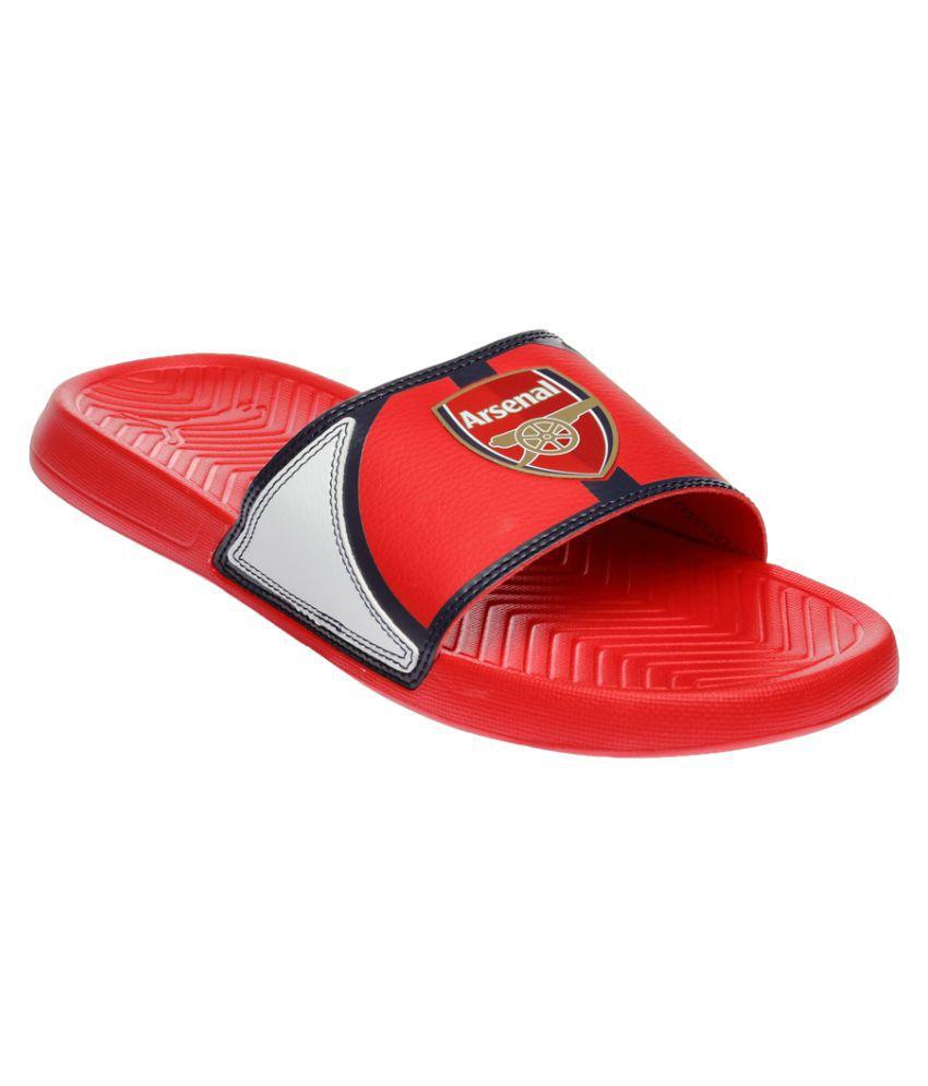 Puma Red Slides