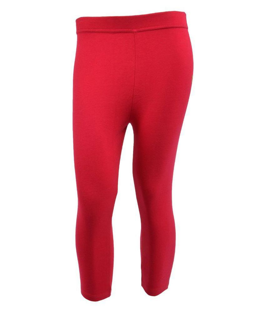 Tanus Red Cotton Capri