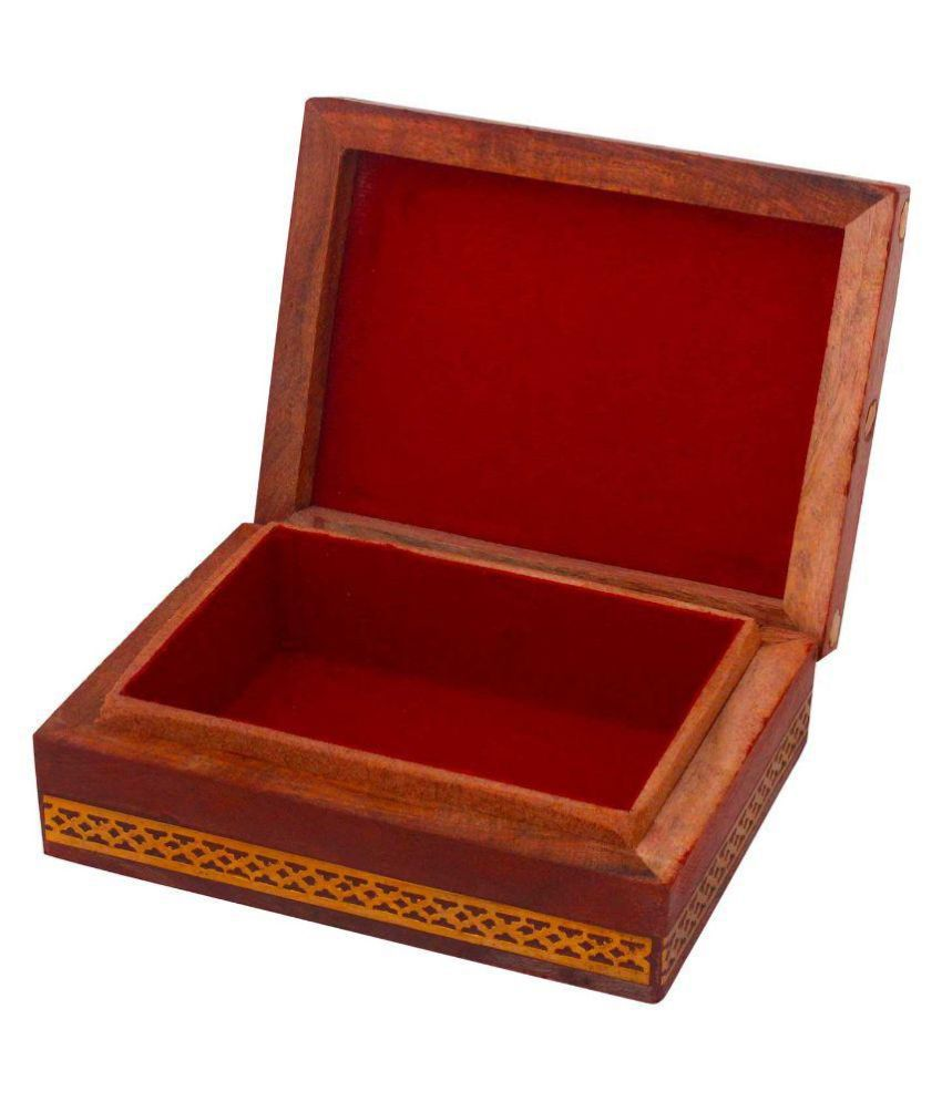 Yoga Mart Brown Wooden Jewellary Box