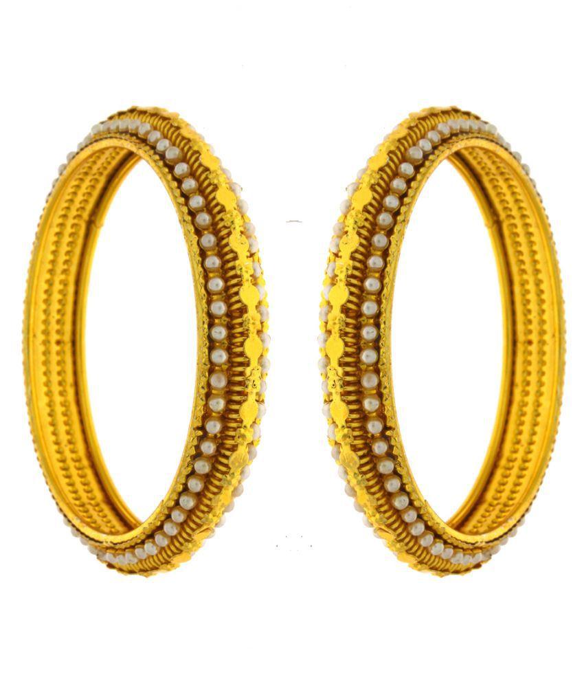 Anuradha Art Golden Bangles Set
