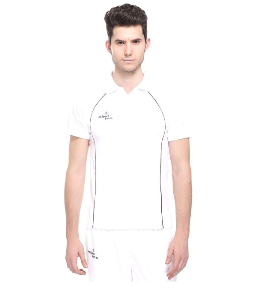 85d32b7a8 Sport Sun White Cricket Polo T-Shirt - Buy Sport Sun White Cricket Polo  T-Shirt Online at Low Price in India - Snapdeal