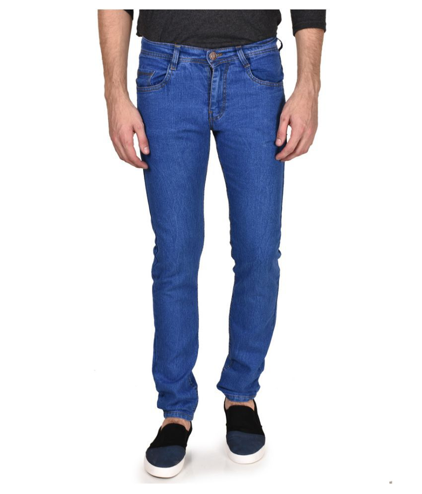Routeen Dark Blue Slim Solid