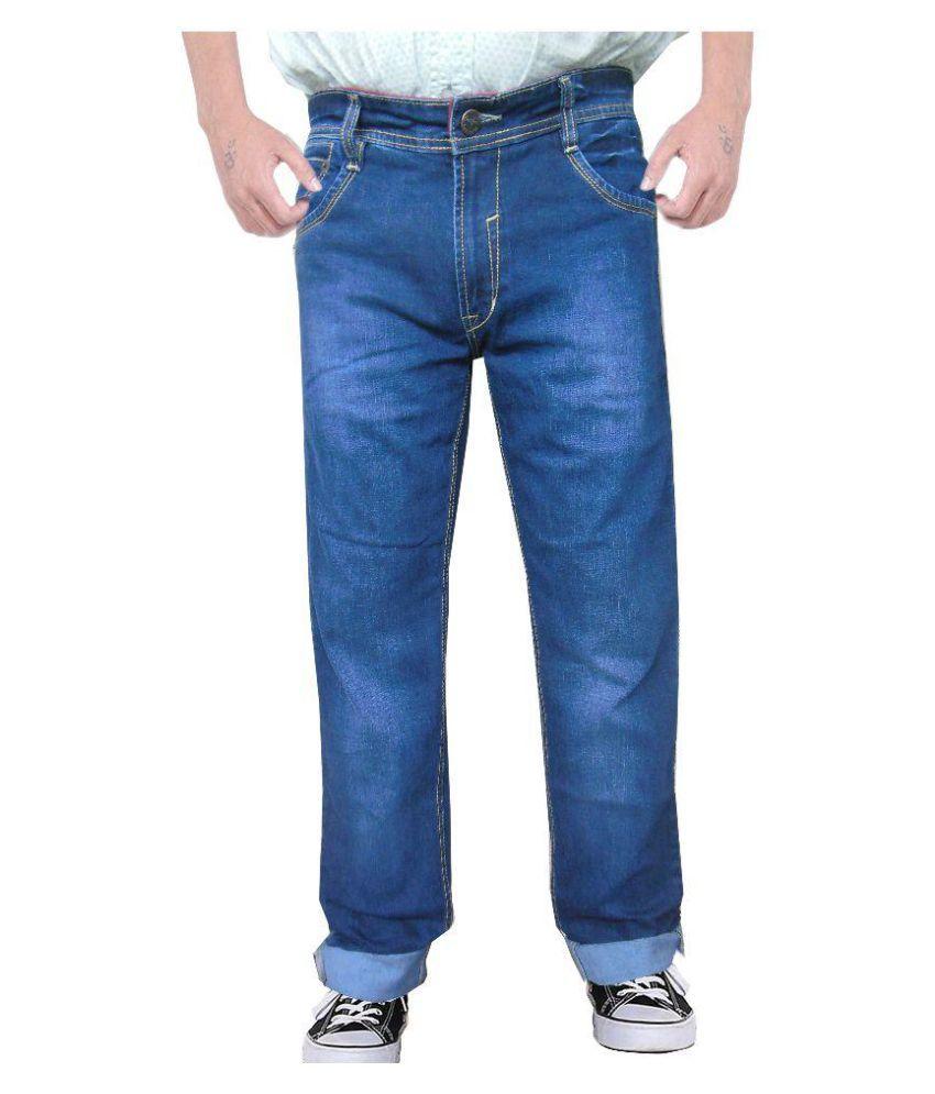 Outfox Blue Regular Fit Solid