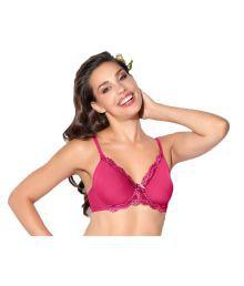 Enamor Pink Nylon T-Shirt/ Seamless Bra