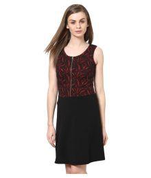 The Vanca Black Georgette Dresses