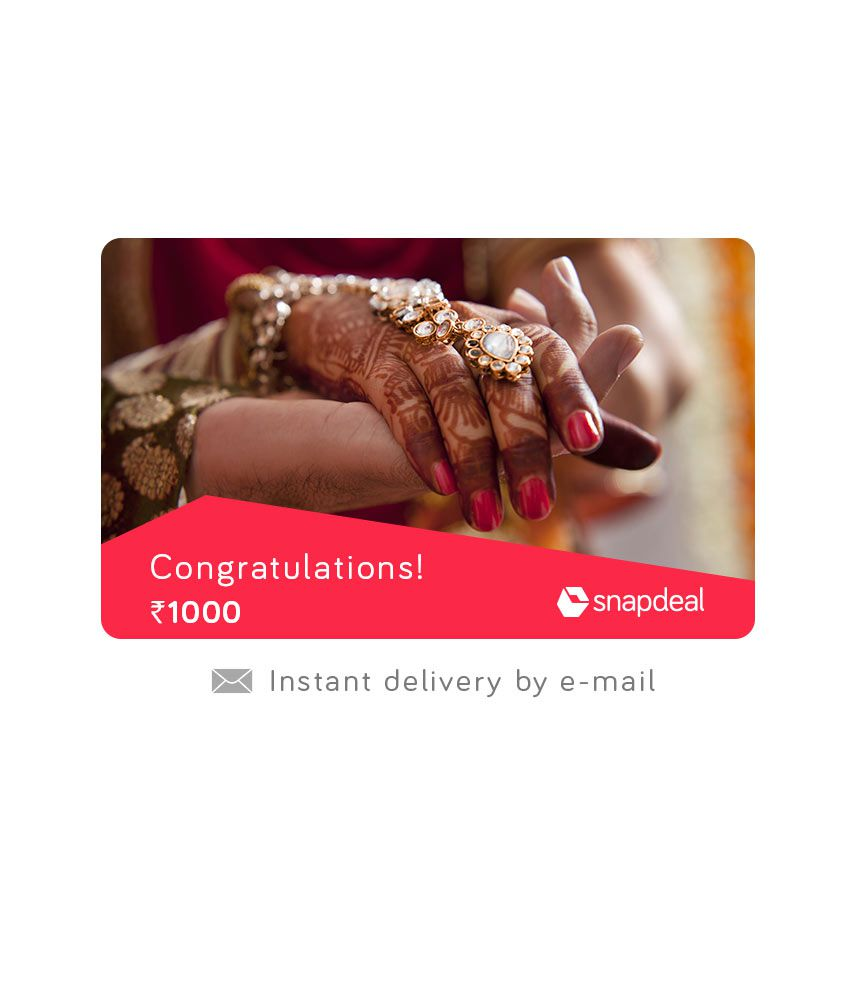 Wedding Gift For 500 Rs : Snapdeal Wedding E-Gift Card - Buy Online on Snapdeal