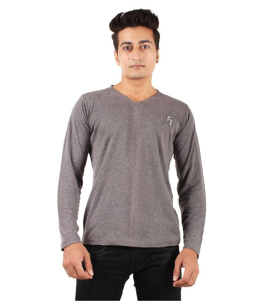 FTrick Dark Grey V-Neck T-Shirt