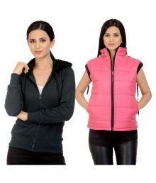 Darwin Multi Color Fleece Bomber Jackets With Sweatshirt - 673500500727