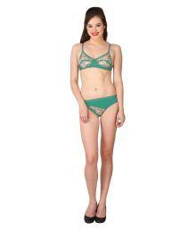 Body Figure Sea Green Lace Shaping Bra