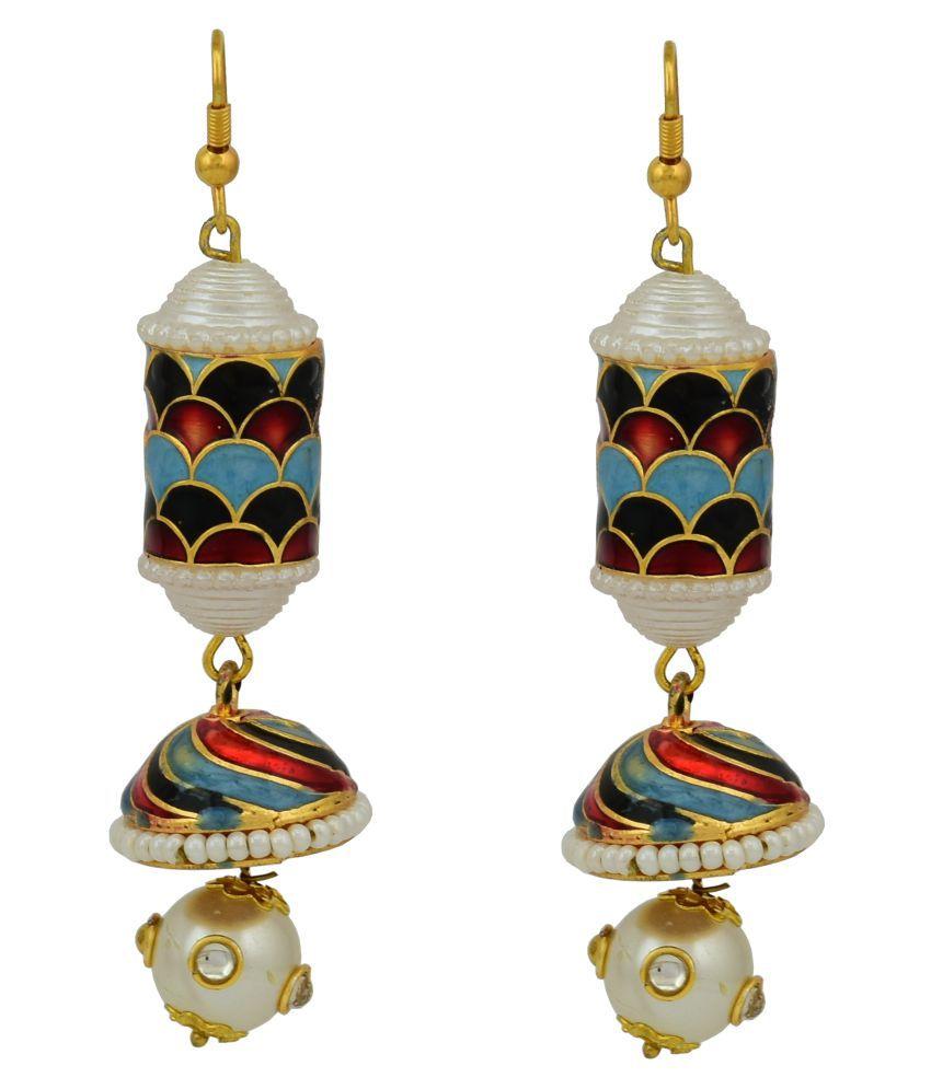 High Trendz Multicolour Alloy Jhumki Earring
