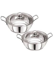 Pristine Enamle Tri Ply Bottom Cookware Set 4 Cookware Sets