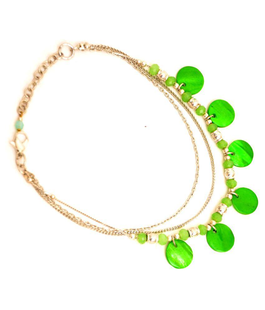 Zurri Green Anklet