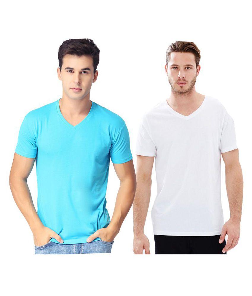 Indian Engineer Multi V-Neck T-Shirt Pack of 2