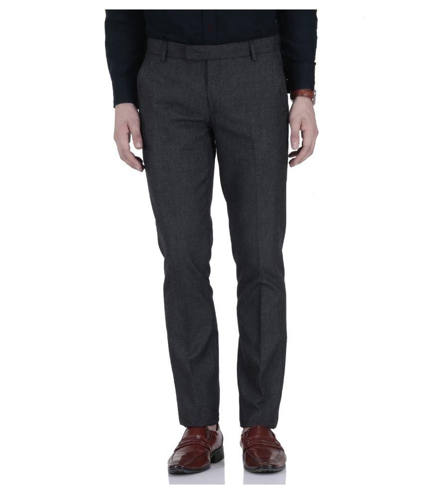 Roy Black Slim Flat Trouser