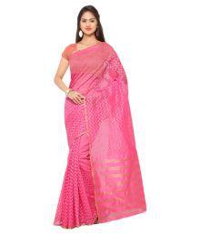 Varkala Silk Sarees Pink Jacquard Saree
