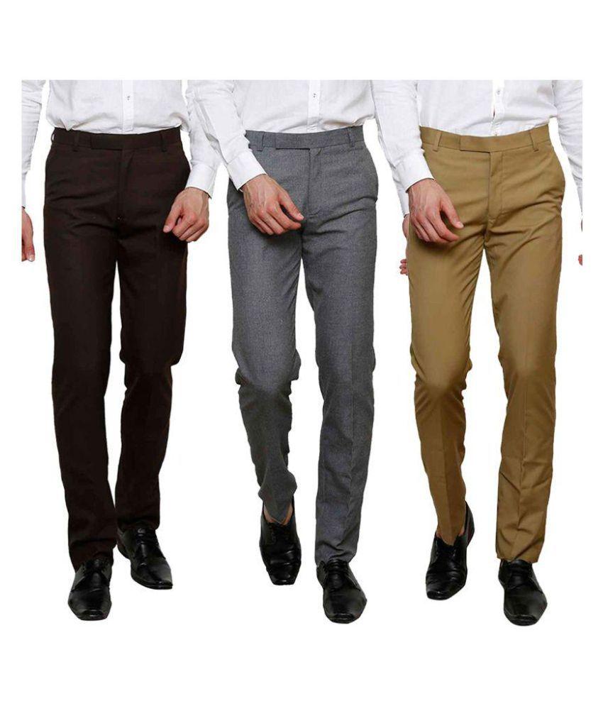 Club Marco USA Multi Regular Flat Trouser