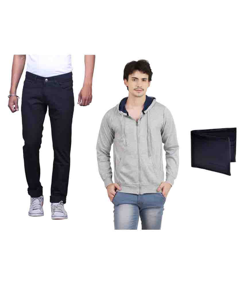 X-Cross Multicolor Jeans with Sweatshirt and Wallet