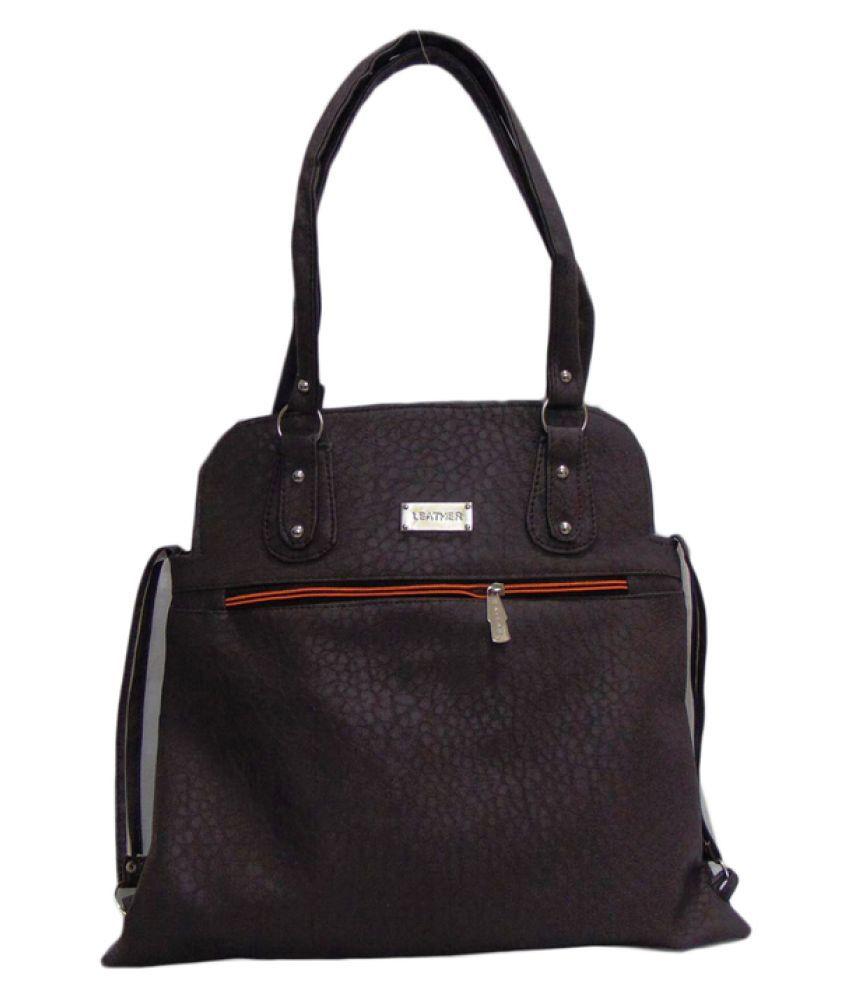 Estoss Black Faux Leather Shoulder Bag