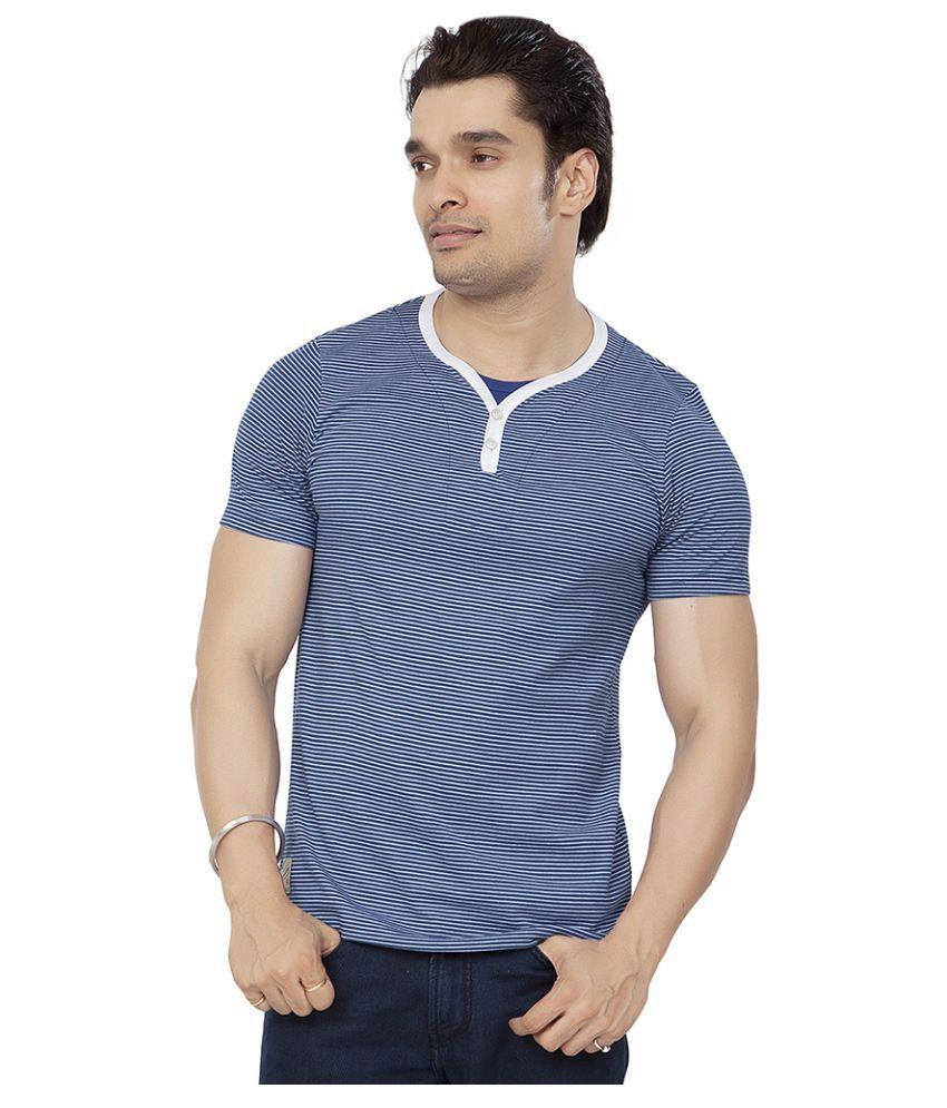 Bonaty Blue Henley T-Shirt