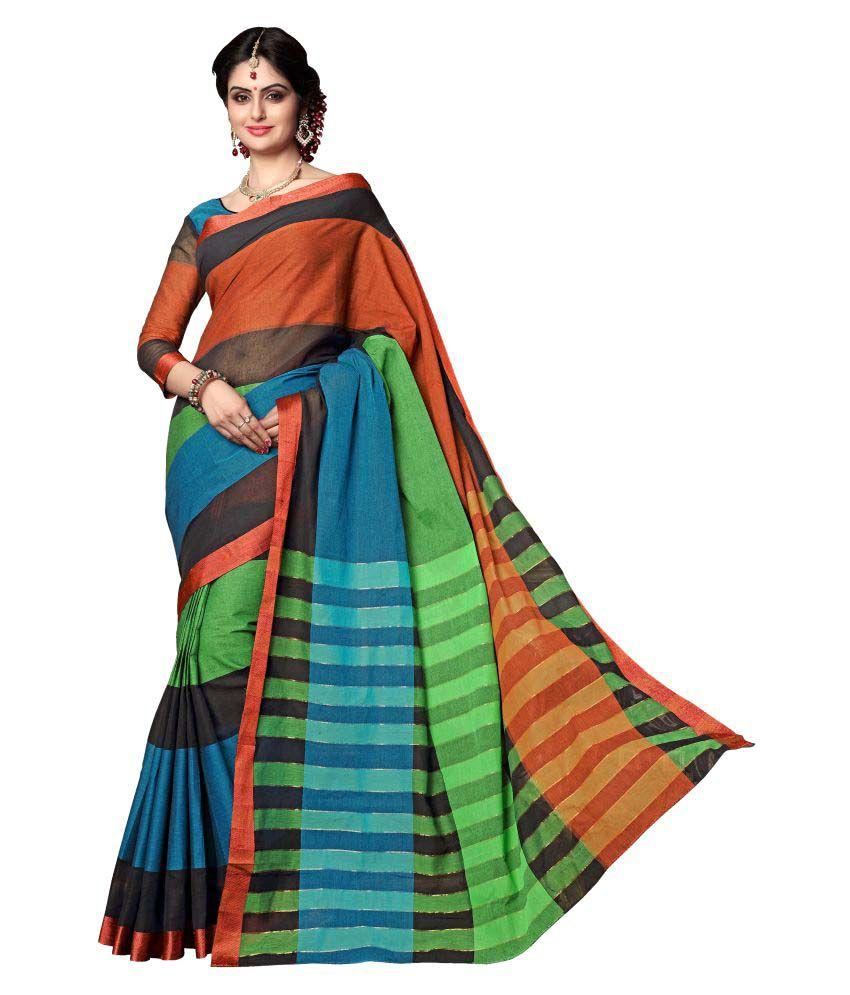Magikmania Multicoloured Cotton Saree