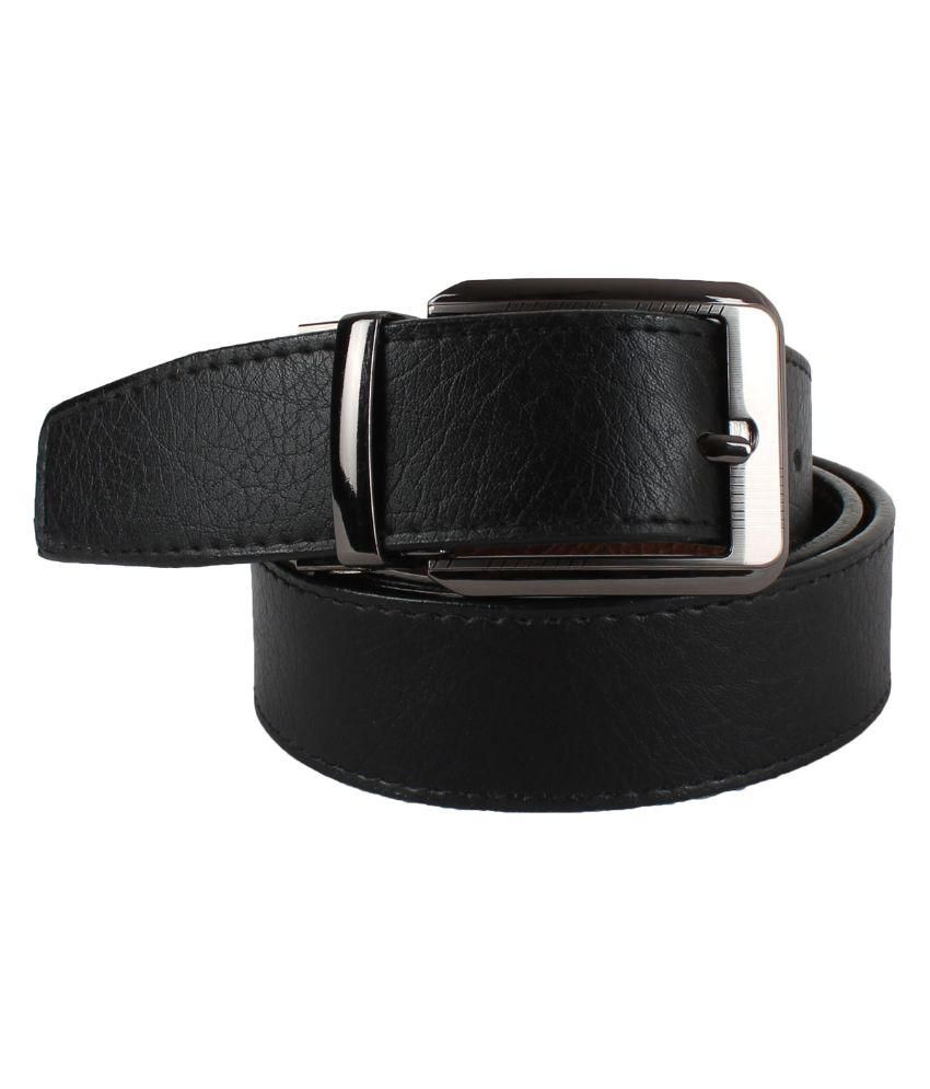 Yours Luggage Black PU Casual Belts