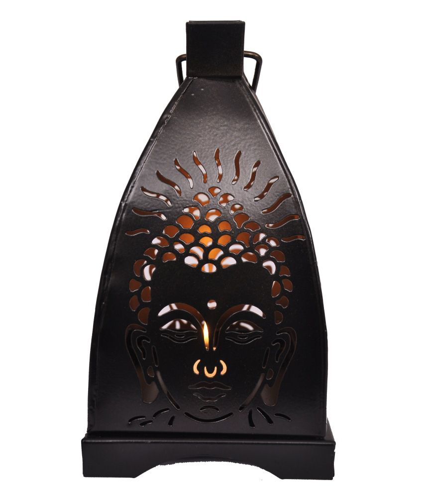 Buy Antique Handcrafted Buddha Lantern For Corporate: Indigo Creatives Buddha Diwali Shadow Tea Light Christmas