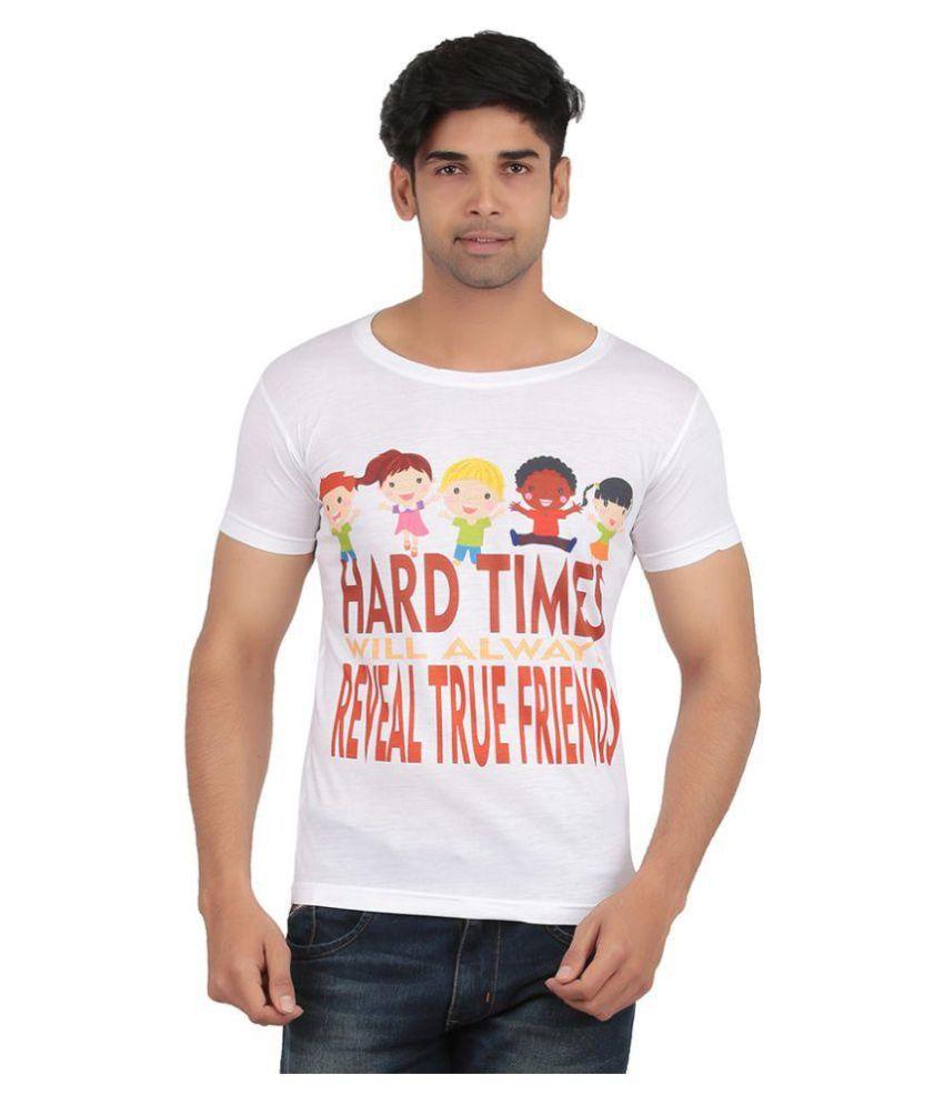 Recca White Round T-Shirt