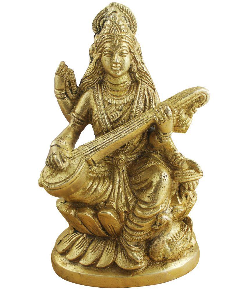Royaltylane Saraswati Brass Idol