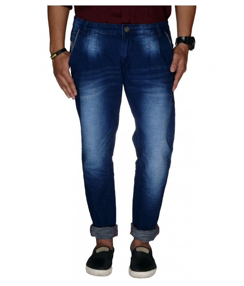 Jugend Blue Regular Fit Solid Jeans