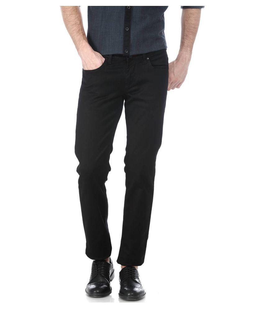 Basics Black Skinny Solid Jeans