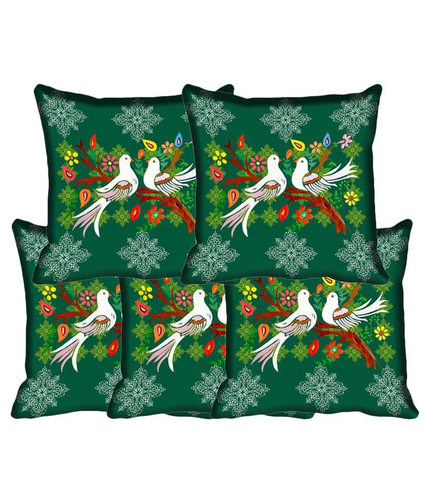 IndiWeaves Set of 5 Polyester Cushion Covers