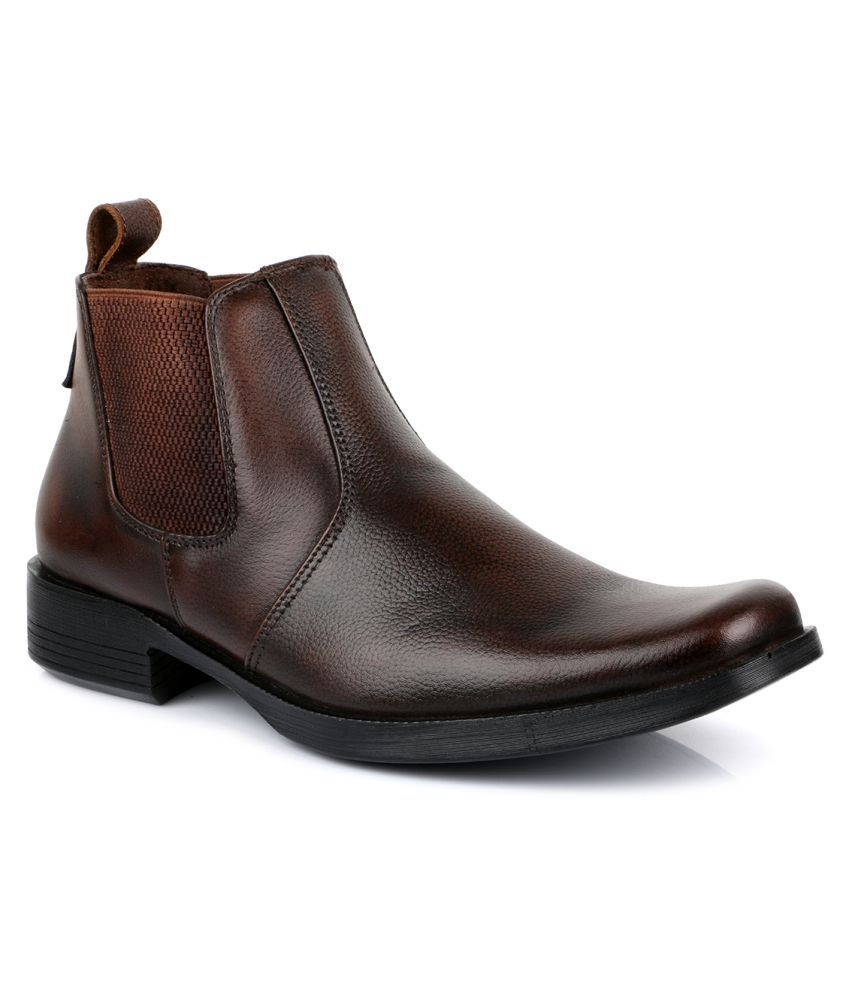Escaro Brown Chelsea Boot Buy Escaro Brown Chelsea Boot Online At