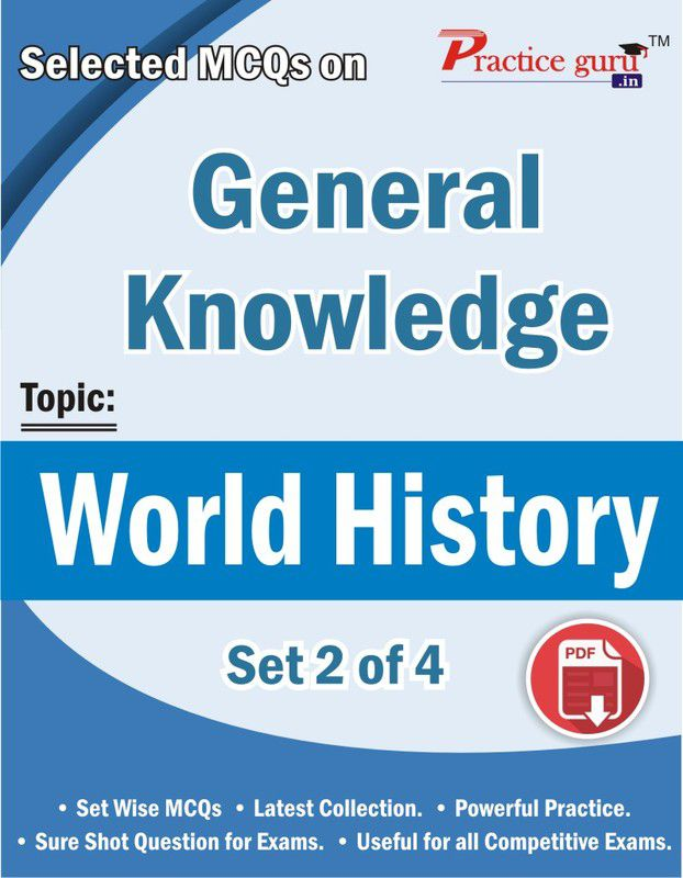 Selected MCQs on General Knowledge - World History Set 2 of 4 Downloadable  Content