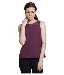 Amari West Purple Polyester Regular Tops