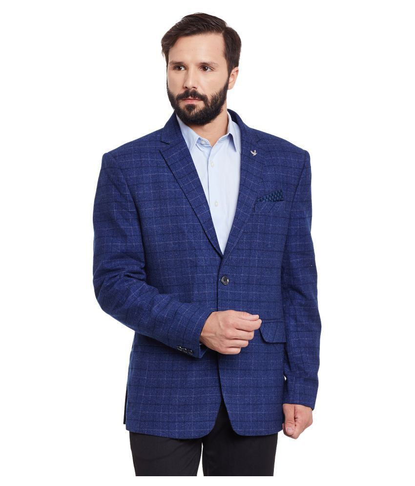 Canary London Blue Checks Casual Blazers