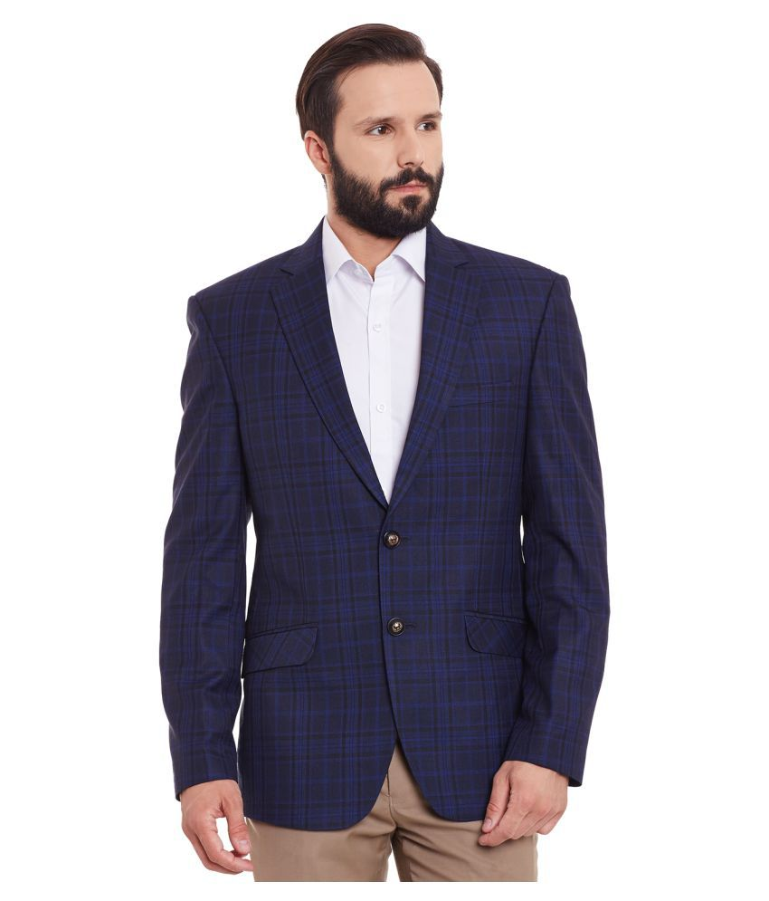 Canary London Navy Checks Casual Blazers